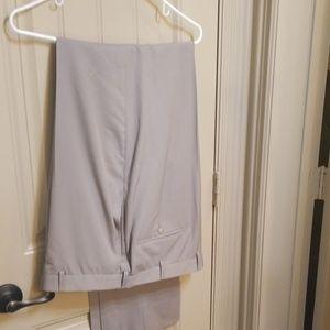 38 Regular Hickey Freeman Tan Dress Pants NWT
